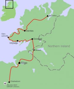 Cycle tour map for KHD, from Ireland by bike