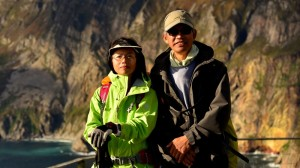 Backroads and Beyond cycling and hiking tour, Andrew and Catriona