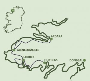 Sliabh Liag Peninsula self-guided walking tour map