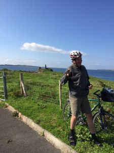 Stever at St, John's Point on Highlights of the Highlands, Irish bike tour.