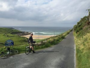 Irish bike tour, Steve near Kilcar