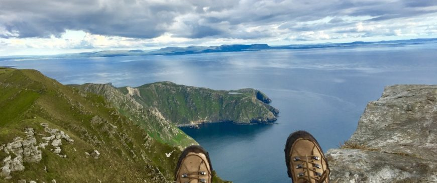 Walking on Sliabh Liag with Ireland by Bike