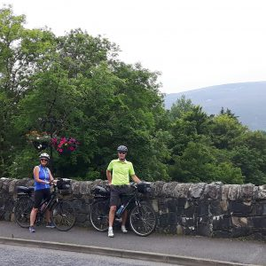 "On the Wild Atlantic Way while cycling in Ireland with Donegal company ""Ireland by Bike."""