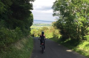 cycling in Antrim, Northern Ireland at Ballycastle forest.