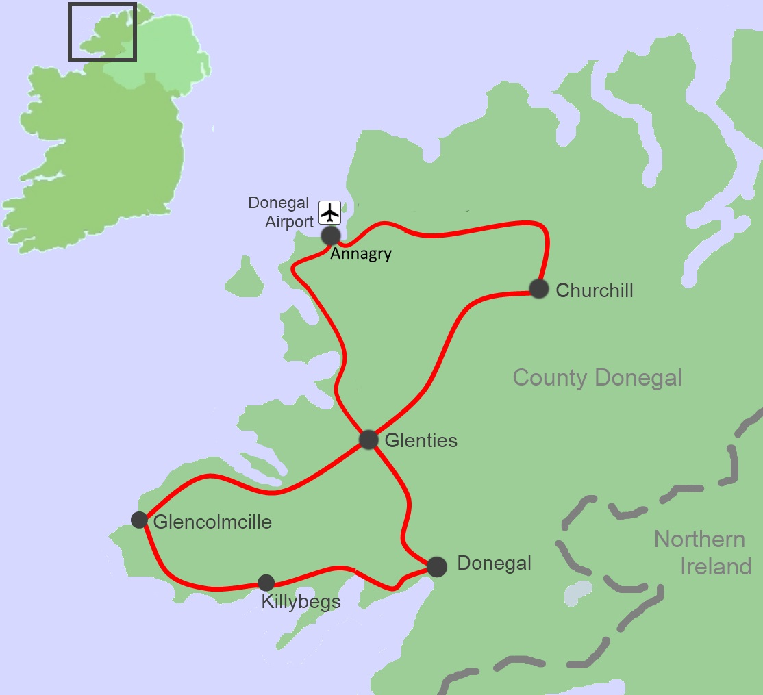 on county donegal ireland map