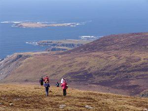Trekking à Sliabh Liag, Donegal, Irlande