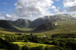 Cycling route, in Donegal past the Poisoned Glen