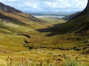 Randonnée à vélo, traversée des montagnes sacrées, Donegal, Irlande