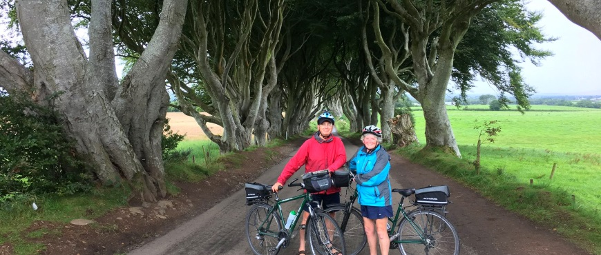 Cycling holiday in Northern Ireland at the Dark Hedges County Antrim